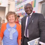 ANIM Boss, Mr Olumide Ogunlade with Britain's High Commissioner to Nigeria, H.E. Mrs Catriona Laing